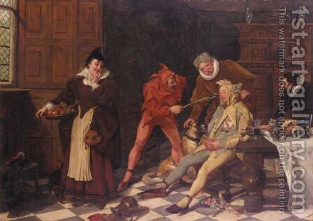 Fools Make Fools by James A. Goldingham - Reproduction Oil Painting