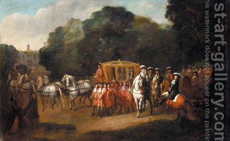 William III's Procession To The Houses Of Parliament by (after) Alexander Van Gaelen - Reproduction Oil Painting