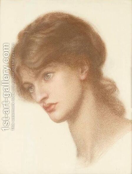 Study Of Marie Spartali For Dante's Dream by Dante Gabriel Rossetti - Reproduction Oil Painting