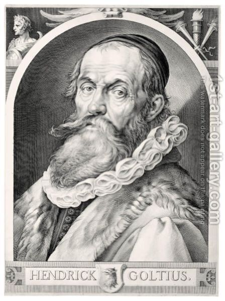 Hendrik Goltzius (Holl.297) by (after) Hendrick Goltzius - Reproduction Oil Painting