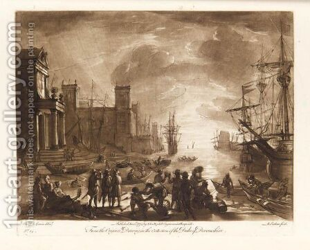 Liber Veritatis (See Le Blanc 105-405) by (after) Claude Lorrain (Gellee) - Reproduction Oil Painting