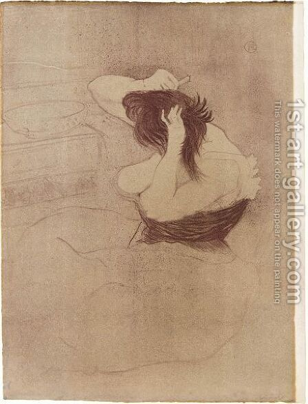 Femme Qui Se Peigne by Toulouse-Lautrec - Reproduction Oil Painting