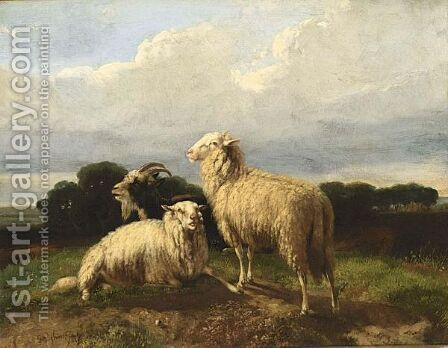 Sheep by Dirk Peter Van Lokhorst - Reproduction Oil Painting