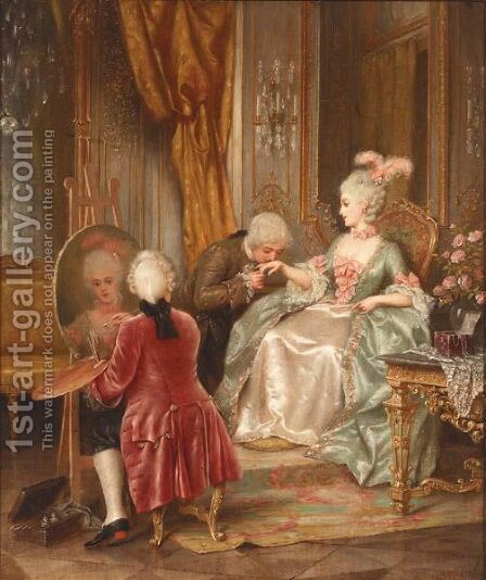 Elegant Company by Hermann Vogler - Reproduction Oil Painting