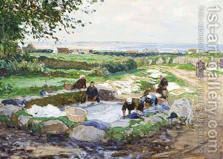 'Lavoir In Bretagne' by Hans Von Bartels - Reproduction Oil Painting