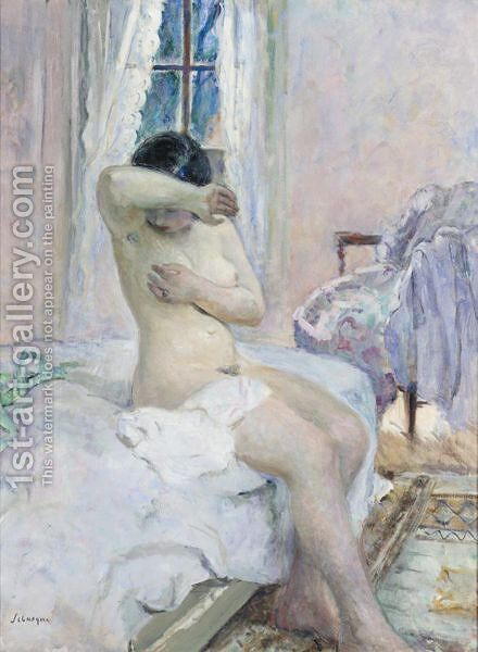 Nu Sur Le Lit by Henri Lebasque - Reproduction Oil Painting