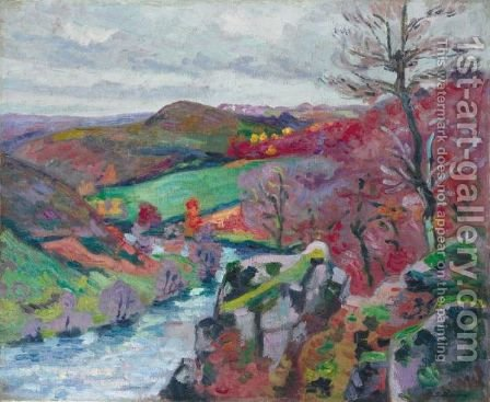 Paysage De La Creuse 6 by Armand Guillaumin - Reproduction Oil Painting