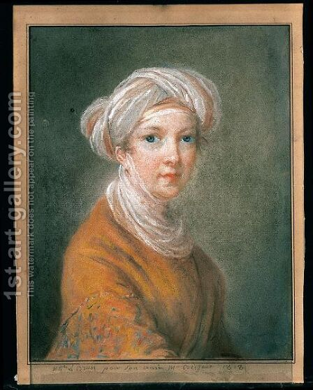 Ritratto Di Giovane Donna Con Turbante, Probabilmente Un Ritratto Dell'Artista by (after) Elisabeth Vigee-Lebrun - Reproduction Oil Painting