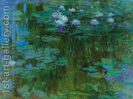Nympheas 6 by Claude Oscar Monet - Reproduction Oil Painting