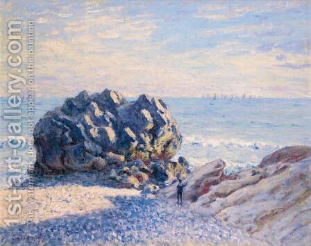 Storr Rock, Lady's Cove - Le Soir by Alfred Sisley - Reproduction Oil Painting