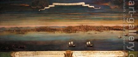 'Prospetiva Di Constantinopoli Veduta Per Levante' (View Of Constantinople From The East) by Italian School - Reproduction Oil Painting