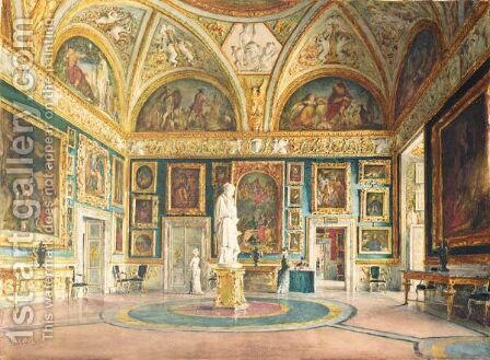 The Iliad Room, Pitti Palace, Florence by Domenico Caligo - Reproduction Oil Painting