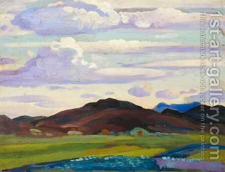 Landscape No. 3 by Derwent Lees - Reproduction Oil Painting