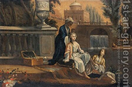 Betzabea Al Bagno by Italian School - Reproduction Oil Painting