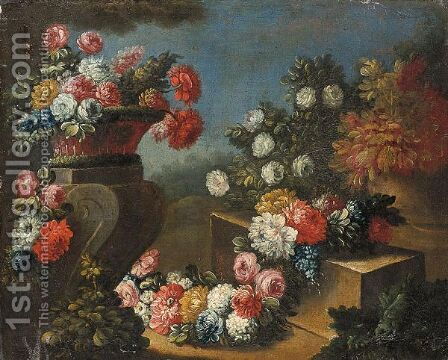 Natura Morta Con Vaso Di Fiori by (after) Gasparo Lopez - Reproduction Oil Painting
