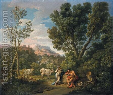 Mercurio E Argo by (after) Andrea Locatelli - Reproduction Oil Painting