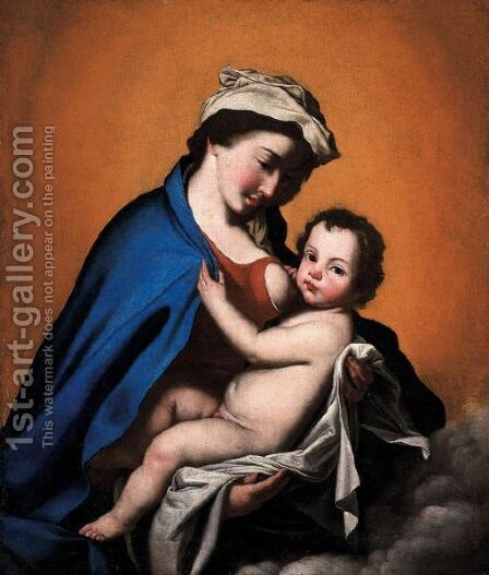 Madonna Col Bambino by (after) Jusepe De Ribera - Reproduction Oil Painting