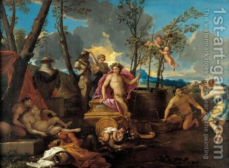Baccanale by (after) Nicolas Poussin - Reproduction Oil Painting