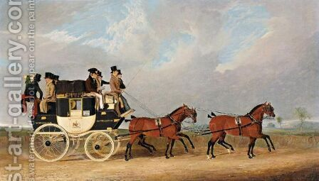 The Southampton And London Royal Mail Coach by Benjamin Snr Herring - Reproduction Oil Painting