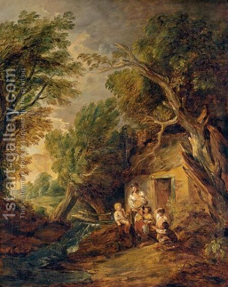 The Cottage Door by (after) Gainsborough, Thomas - Reproduction Oil Painting