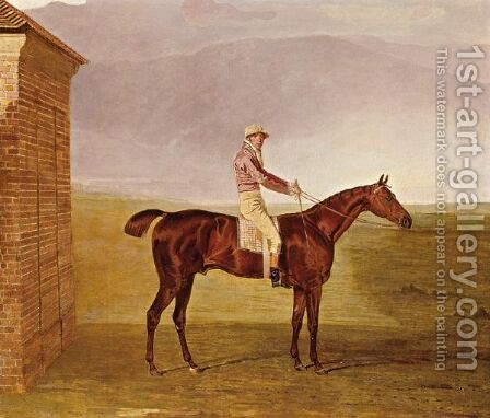 Burleigh With Sam Chifney Up by Benjamin Marshall - Reproduction Oil Painting