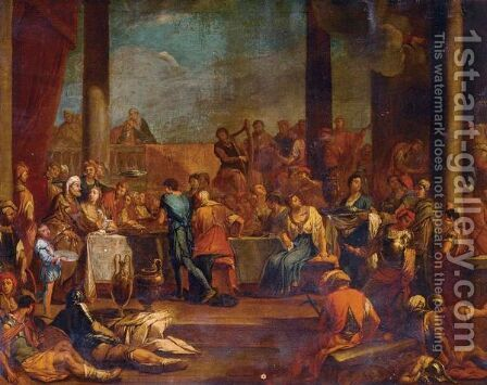 Belshazzar's Feast by (after) Giulio Carpioni - Reproduction Oil Painting