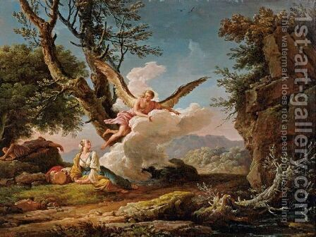 The Banishment Of Hagar And Ishmael by Claude-joseph Vernet - Reproduction Oil Painting