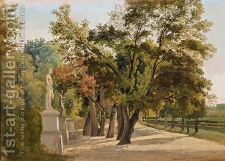 Entrance To The Giardino Del Lago, Villa Borghese, Rome by Gustav Wilhelm Palm - Reproduction Oil Painting