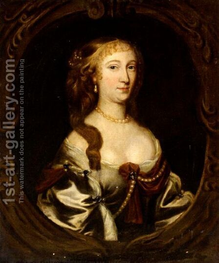 Portrait Of Miss Morgan by (after) Mary Beale - Reproduction Oil Painting