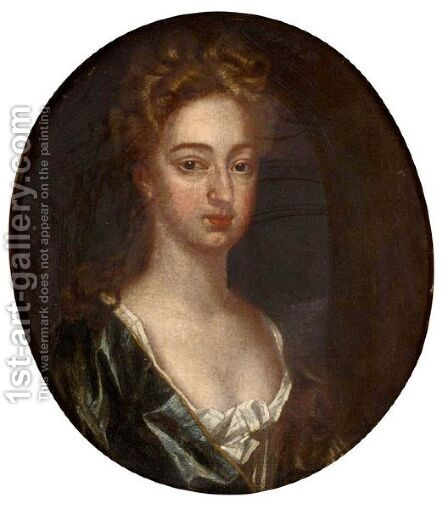 Portrait Of Edward Morgan's Wife Mary by (after) Kneller, Sir Godfrey - Reproduction Oil Painting