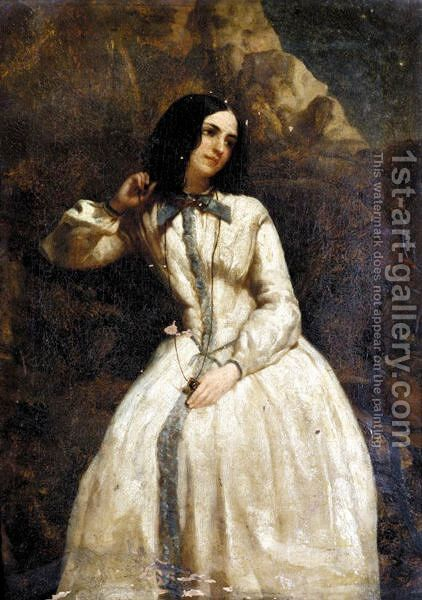 Lady In A White Dress by (after) William Etty - Reproduction Oil Painting