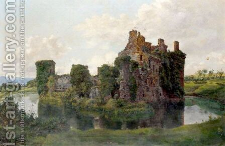 Ruins Of A Fortified House by (after) Edmund John Niemann - Reproduction Oil Painting