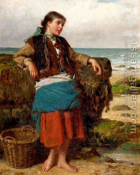 The Oyster Gatherer by Haynes King - Reproduction Oil Painting