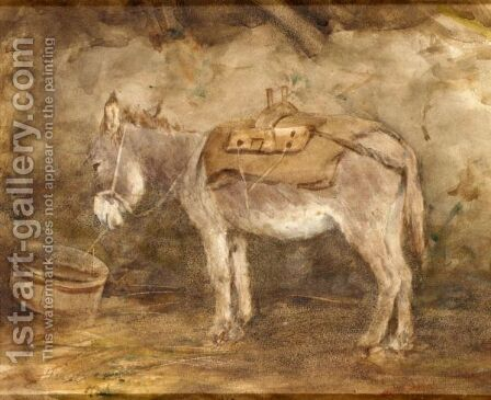An Irish Donkey by Henry Wright Kerr - Reproduction Oil Painting
