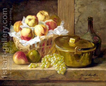 Still Life Of Fruit by Alphonse de Neuville - Reproduction Oil Painting