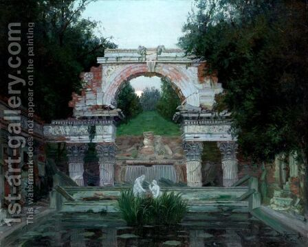 The Roman Ruin In Schonbrunn, Vienna by Jakob Koganowsky - Reproduction Oil Painting