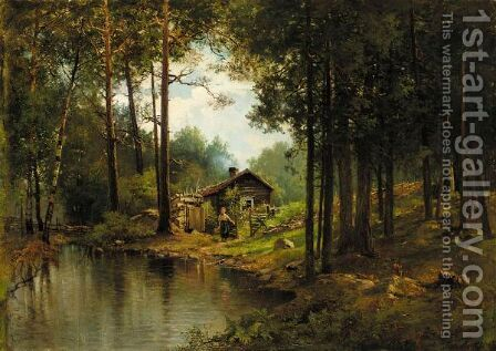 Dacha By The River by Alexander Alexandrovich Kiselev - Reproduction Oil Painting