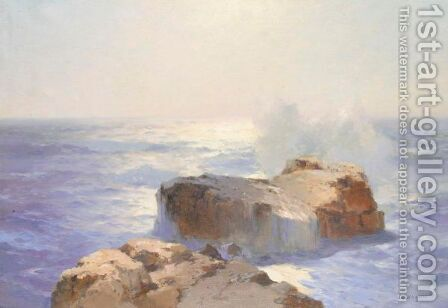 Seascape With Rocks by Aleksei Vasilievich Hanzen - Reproduction Oil Painting