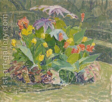 Flowers by Alexander Konstantinovich Bogomazov - Reproduction Oil Painting