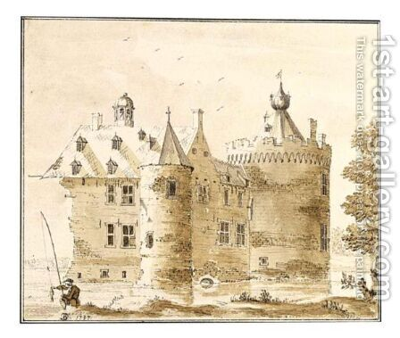 View Of Castle Bylant by Jan De Beijer - Reproduction Oil Painting