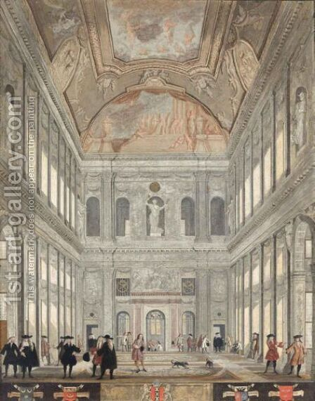 The 'Burgerzaal' Of The Amsterdam Town Hall by (after) Pieter Van Den Berge - Reproduction Oil Painting