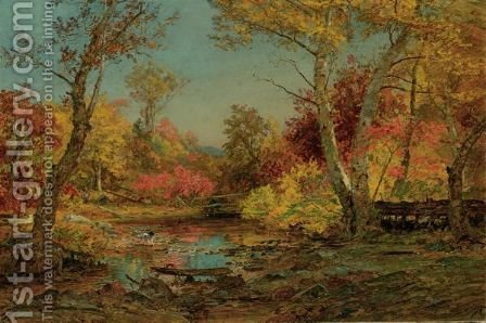 Wawayanda River In Warwick by Jasper Francis Cropsey - Reproduction Oil Painting