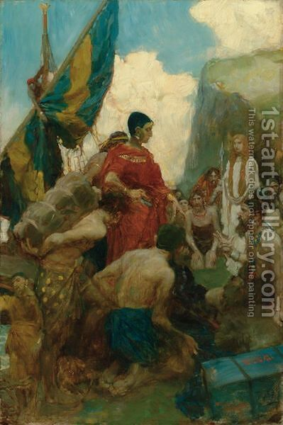 The Phoenician Traders by Howard Pyle - Reproduction Oil Painting