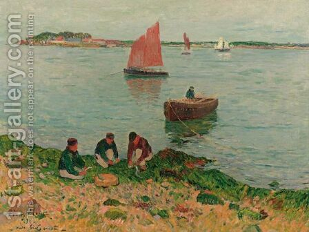 La Rade De Lorient by Henri Moret - Reproduction Oil Painting