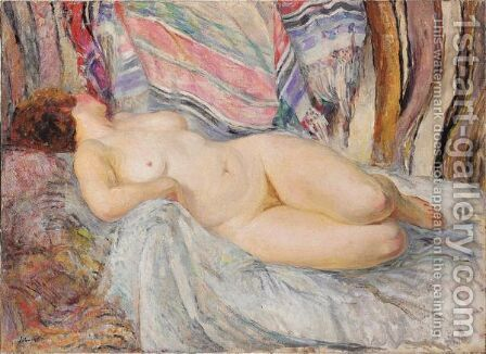Femme Nue Allongee by Henri Lebasque - Reproduction Oil Painting
