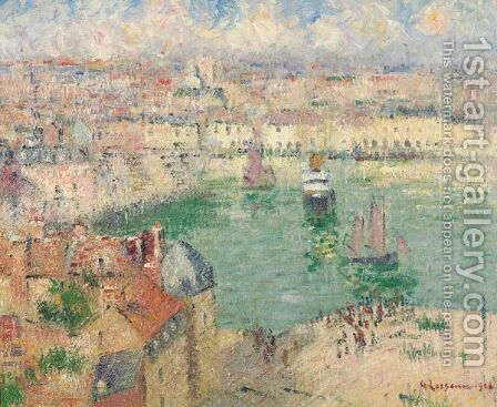 Le Port De Dieppe by Gustave Loiseau - Reproduction Oil Painting