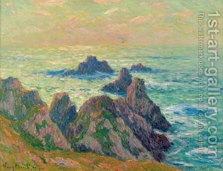 Rochers En Bretagne by Henri Moret - Reproduction Oil Painting