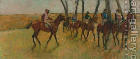 La Promenade Des Chevaux by Edgar Degas - Reproduction Oil Painting