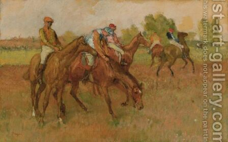 Avant La Course by Edgar Degas - Reproduction Oil Painting