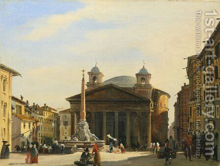 The Pantheon, Rome by Ippolito Caffi - Reproduction Oil Painting